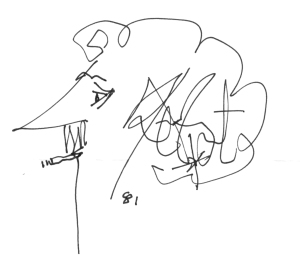 Vonnegut's signature self portrait