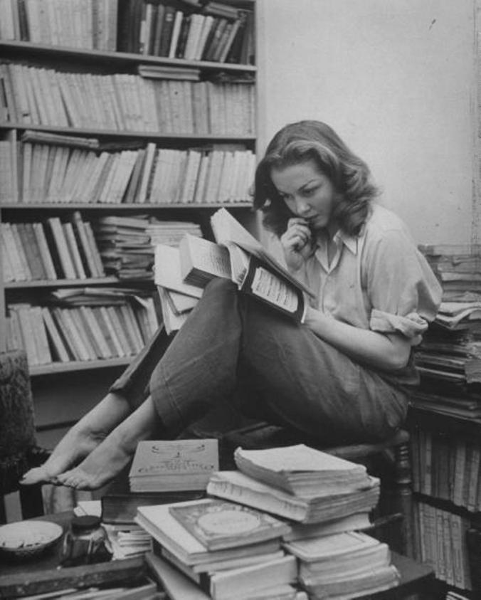 Sylvia Plath, reading.