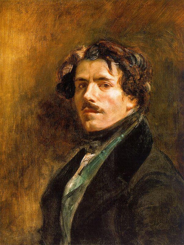 delacroix self-portrait, 1837