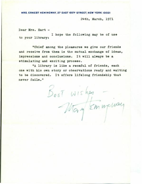 Mary Welsh Hemingway