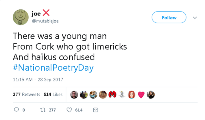 Joe poetry day