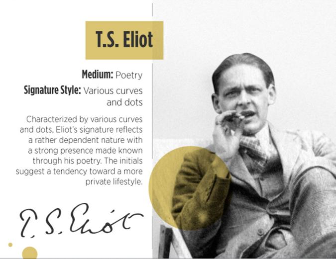 TS Eliot signature