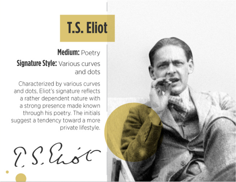 TS Eliot signature